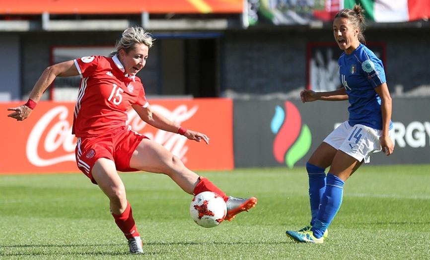 Елена Данилова в матче с Италией